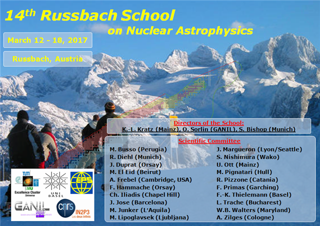 Workshop über nukleare Astrophysik in Russbach